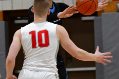 CIAC Boys Basketball; Wolcott 81 vs. Oxford 74 - Photo # 175