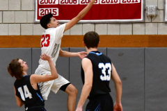 CIAC Boys Basketball; Wolcott 81 vs. Oxford 74 - Photo # 176