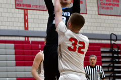 CIAC Boys Basketball; Wolcott 81 vs. Oxford 74 - Photo # 179