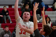 CIAC Boys Basketball; Wolcott 81 vs. Oxford 74 - Photo # 385