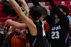 CIAC Boys Basketball; Wolcott 81 vs. Oxford 74 - Photo # 397