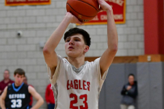 CIAC Boys Basketball; Wolcott 81 vs. Oxford 74 - Photo # 409