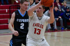 CIAC Boys Basketball; Wolcott 81 vs. Oxford 74 - Photo # 415