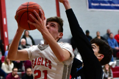 CIAC Boys Basketball; Wolcott 81 vs. Oxford 74 - Photo # 443