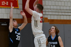 CIAC Boys Basketball; Wolcott 81 vs. Oxford 74 - Photo # 471