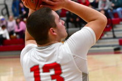 CIAC Boys Basketball; Wolcott 81 vs. Oxford 74 - Photo # 538