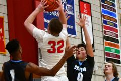 CIAC Boys Basketball; Wolcott 81 vs. Oxford 74 - Photo # 567
