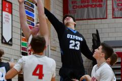 CIAC Boys Basketball; Wolcott 81 vs. Oxford 74 - Photo # 582