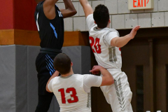 CIAC Boys Basketball; Wolcott 81 vs. Oxford 74 - Photo # 591