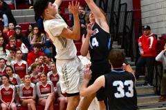 CIAC Boys Basketball; Wolcott 81 vs. Oxford 74 - Photo # 627