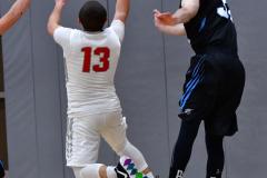 CIAC Boys Basketball; Wolcott 81 vs. Oxford 74 - Photo # 641