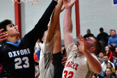CIAC Boys Basketball; Wolcott 81 vs. Oxford 74 - Photo # 677