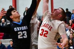 CIAC Boys Basketball; Wolcott 81 vs. Oxford 74 - Photo # 678