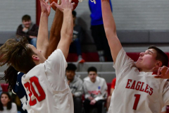 CIAC Boys Basketball; Wolcott JV vs. Ansonia JV - Photo # (107)