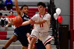 CIAC Boys Basketball; Wolcott JV vs. Ansonia JV - Photo # (39)