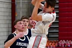 CIAC Boys Basketball; Wolcott JV vs. Ansonia JV - Photo # (64)