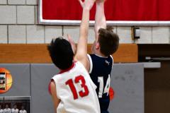 CIAC Boys Basketball; Wolcott JV vs. Ansonia JV - Photo # (81)
