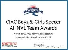 CIAC Boys & Girls Soccer All NVL Awards 2016