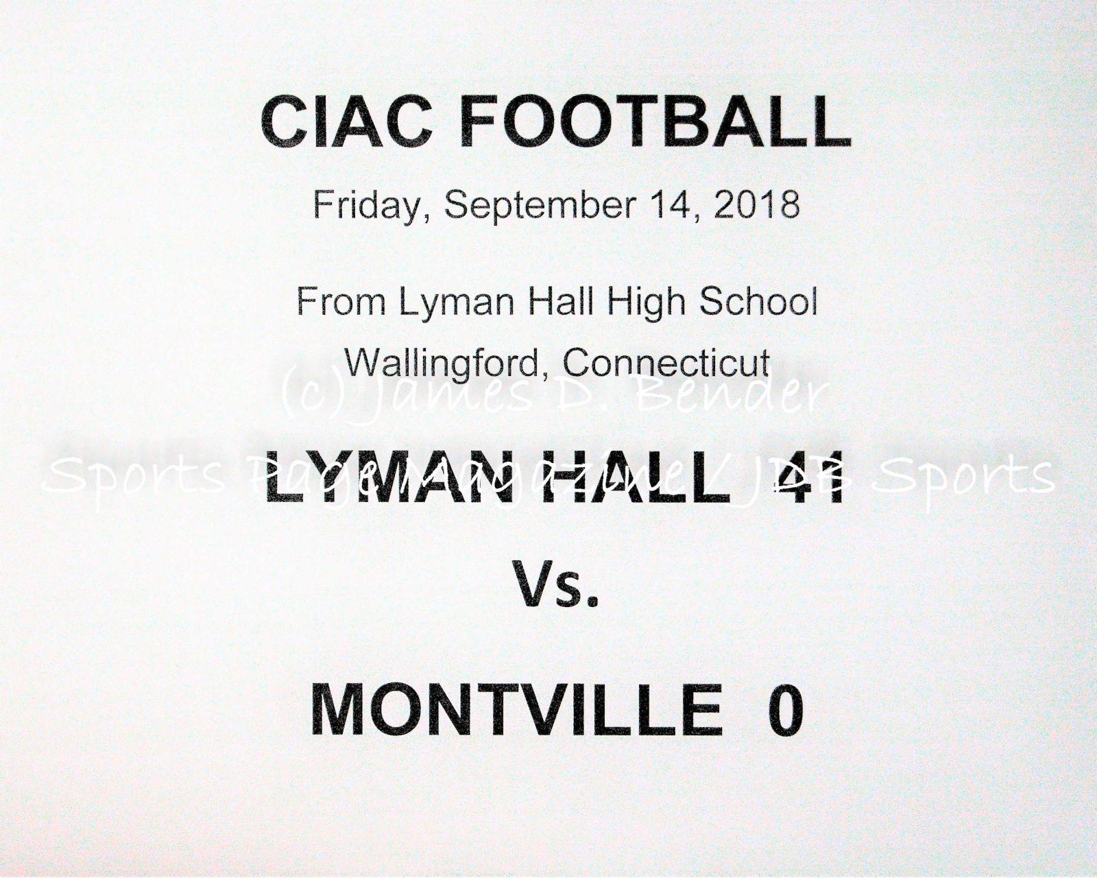 Gallery CIAC Football: Lyman Hall 41 vs  Montville 0