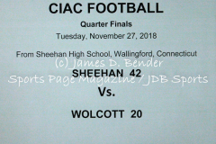 Gallery CIAC Football: Sheehan 42 vs. Wolcott 20