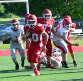 CIAC Football; Wolcott Red vs. White Spring Game - Photo # (161)