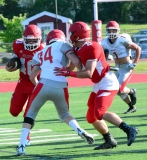 CIAC Football; Wolcott Red vs. White Spring Game - Photo # (163)