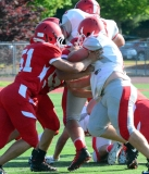CIAC Football; Wolcott Red vs. White Spring Game - Photo # (186)