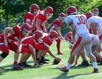 CIAC Football; Wolcott Red vs. White Spring Game - Photo # (191)
