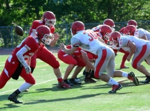 CIAC Football; Wolcott Red vs. White Spring Game - Photo # (192)