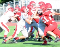 CIAC Football; Wolcott Red vs. White Spring Game - Photo # (200)