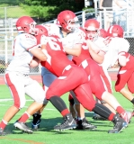 CIAC Football; Wolcott Red vs. White Spring Game - Photo # (202)