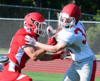 CIAC Football; Wolcott Red vs. White Spring Game - Photo # (23)