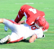 CIAC Football; Wolcott Red vs. White Spring Game - Photo # (244)