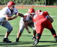 CIAC Football; Wolcott Red vs. White Spring Game - Photo # (32)