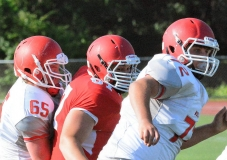 CIAC Football; Wolcott Red vs. White Spring Game - Photo # (36)
