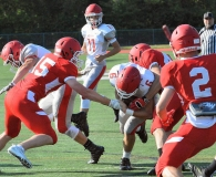 CIAC Football; Wolcott Red vs. White Spring Game - Photo # (41)