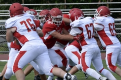 Wolcott Football Red vs White Photo # 600
