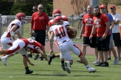 Wolcott Football Red vs White Photo # 702