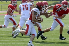 Wolcott Football Red vs White Photo # 715