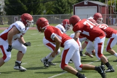 Wolcott Football Red vs White Photo # 747