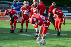 CIAC Football; Wolcott 34 vs. Seymour 27 - Photo #A 013
