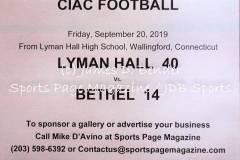 Gallery CIAC FTBL Lyman Hall 40 vs. Bethel 14