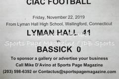 Gallery CIAC FTBL: Lyman Hall 41 vs. Bassick 0