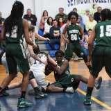 CIAC Girls Basketball Class M Tournament FR - #13 Seymour 52 vs. #20 Bassick 38 - Photo# (50)