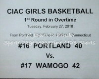 Gallery CIAC Girls Basketball - Class S 1st Rd: #16 Portland 40 vs. #17 Wamogo 42