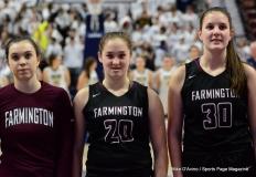 CIAC Girls Basketball; Focused on Farmington vs. RHAM - Photo # 158
