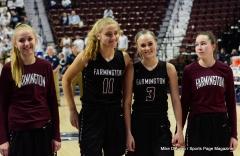 CIAC Girls Basketball; Focused on Farmington vs. RHAM - Photo # 167