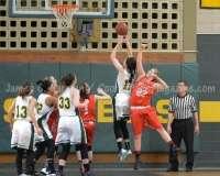 CIAC Girls Basketball NVL QF's: #1 Holy Cross 62 vs.#8 Wolcott 43 - Photo 28