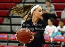 CIAC Girls Basketball Tourn. - Class M, SF's - Focused on #1 Cromwell vs. #4 Holy Cross - Pregame - Photo # (30)