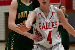 Gallery CIAC Girls Basketball; Wolcott vs. Holy Cross - Photo # 537